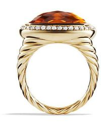 David Yurman - Albion Ring With Madeira Citrine And Diamonds In 18k Gold - Lyst