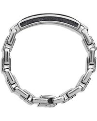 David Yurman | Modern Cable Id Bracelet With Black Onyx | Lyst