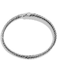 David Yurman | Willow Open Single-row Bracelet With Diamonds, 11mm | Lyst