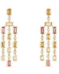 David Yurman - Pink Tourmaline & Yellow Beryl With Diamonds - Lyst