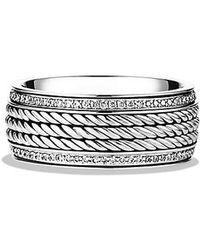 David Yurman | Maritime Rope Band Ring With Diamonds | Lyst