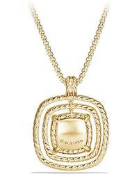 David Yurman - Châtelaine Pave Bezel Enhancer With Garnet And Diamonds In 18k Gold, 26mm - Lyst