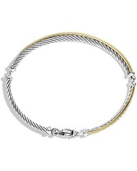 David Yurman - Crossover Bracelet With 18k Gold - Lyst