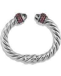 David Yurman - Osetra Bracelet With Hematine And Rhodalite Garnet, 10mm - Lyst