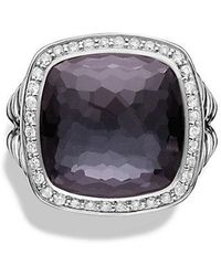 David Yurman - Albion® Ring With Black Orchid And Diamonds, 14mm - Lyst