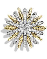 David Yurman - Starburst Ring With Diamonds In 18k Gold - Lyst