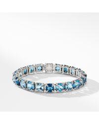 David Yurman - Châtelaine Bracelet With Hampton Blue Topaz, Blue Topaz And Diamonds - Lyst