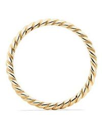 David Yurman - Dy Unity Cable Wedding Band In 18k Gold, 2mm - Lyst