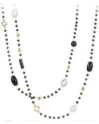 David Yurman - Bijoux Bead Necklace With Black Onyx And Gray Pearl In 18k Gold - Lyst