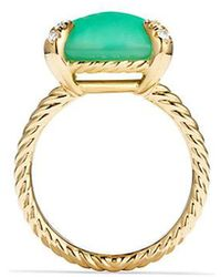 David Yurman - Châtelaine Ring With Chrysoprase And Diamonds In 18k Gold - Lyst
