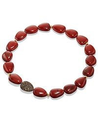 David Yurman - Delta Bead Necklace With Red/poppy Jasper, Orange And Yellow Sapphire - Lyst