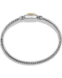 David Yurman - Albion® Bracelet With Diamonds And 18k Gold, 6mm - Lyst