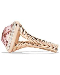 David Yurman - Albion Ring With Morganite And Diamonds In 18k Rose Gold - Lyst
