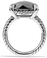 David Yurman - Châtelaine Ring With Hematine And Diamonds, 14mm - Lyst