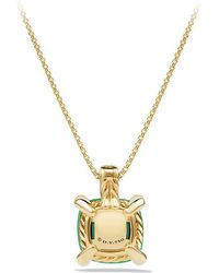 David Yurman - Châtelaine Pendant Necklace With Chrysoprase And Diamonds In 18k Gold, 11mm - Lyst