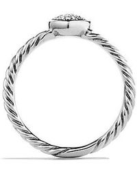 David Yurman - Petite Pave Heart Ring With Diamonds - Lyst