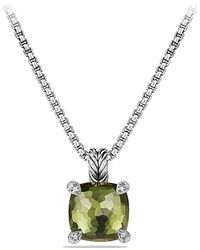 David Yurman - Châtelaine Pendant Necklace With Green Orchid And Diamonds, 11mm - Lyst