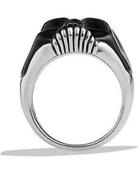David Yurman - Carved Skull Ring With Black Onyx - Lyst