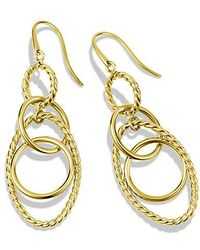 David Yurman - Mobile Small Link Earrings In 18k Gold - Lyst