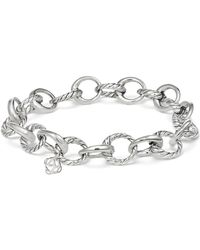 David Yurman - Cable Collectibles Oval Link Charm Bracelet - Lyst