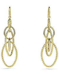 David Yurman   Mobile Chain Earrings In 18k Gold   Lyst