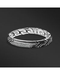 David Yurman - Forged Carbon Id Bracelet With Gray Sapphires - Lyst