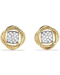 David Yurman - Infinity Earrings With Diamonds In 18k Gold - Lyst