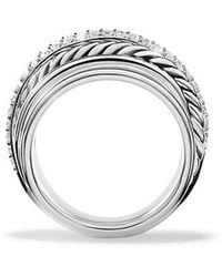 David Yurman - X Crossover Dome Ring With Diamonds - Lyst