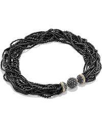 David Yurman - Osetra Statement Necklace With Rhodalite Garnet, Black Onyx And 18k Gold - Lyst