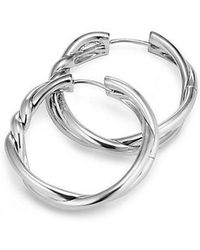 David Yurman - Continuance Hoop Earrings - Lyst