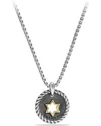 David Yurman - Petite Pave Star Of David Charm Necklace With Diamonds And 18k Gold - Lyst
