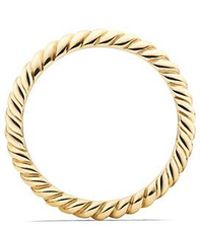 David Yurman - Dy Unity Cable Wedding Band In 18k Gold, 2.45mm - Lyst