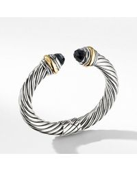 David Yurman - Cable Classics Bracelet With Black Onyx And 14k Gold, 10mm - Lyst