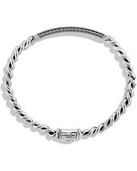 David Yurman - Petite Pavé Id Bracelet With Diamonds - Lyst