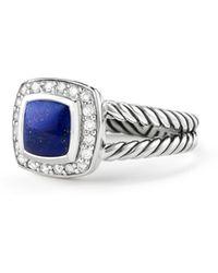 David Yurman - Petite Albion® Ring With Lapis Lazuli And Diamonds - Lyst