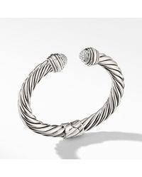 David Yurman - Cable Classics Bracelet With Diamonds, 8.5mm - Lyst