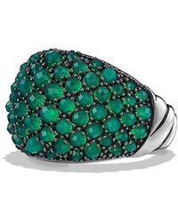 David Yurman - Osetra Dome Ring With Green Onyx - Lyst