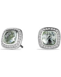 David Yurman - Albion® Earrings With Prasiolite And Diamonds, 7mm - Lyst