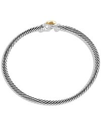 David Yurman - Cable Collectibles Heart Bracelet With 18k Gold, 3mm - Lyst