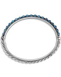 David Yurman - Osetra Bangle Bracelet With Hampton Blue Topaz, 5mm - Lyst