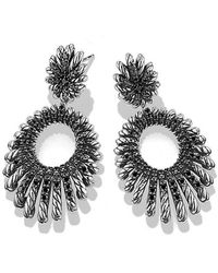 David Yurman - Tempo Double Drop Earrings With Black Spinel - Lyst