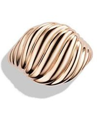 David Yurman - Sculpted Cable Pinky Ring In Rose 18k Gold - Lyst