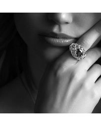 David Yurman - Venetian Quatrefoil Ring With Madeira Citrine And Diamonds In 18k Gold - Lyst
