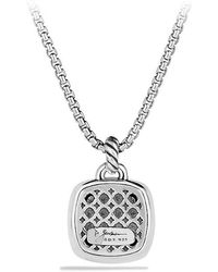 David Yurman - Albion Pendant With Black Diamonds, 17mm - Lyst