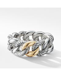 David Yurman - Belmont Curb Link Bracelet With 18k Gold, 25mm - Lyst