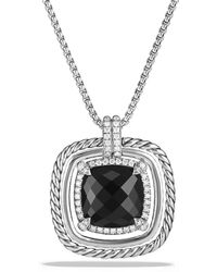 David Yurman - Châtelaine Pave Bezel Necklace With Black Onyx And Diamonds, 24mm - Lyst