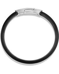 David Yurman | Streamline Rubber Id Bracelet In Black | Lyst