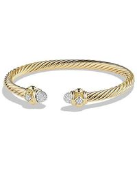 David Yurman - Renaissance Bracelet With Diamonds In 18k Gold, 5mm - Lyst