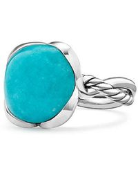 David Yurman - Continuance® Ring With Amazonite, 14mm - Lyst