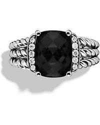 David Yurman - Petite Wheaton Ring With Black Onyx And Diamonds - Lyst
